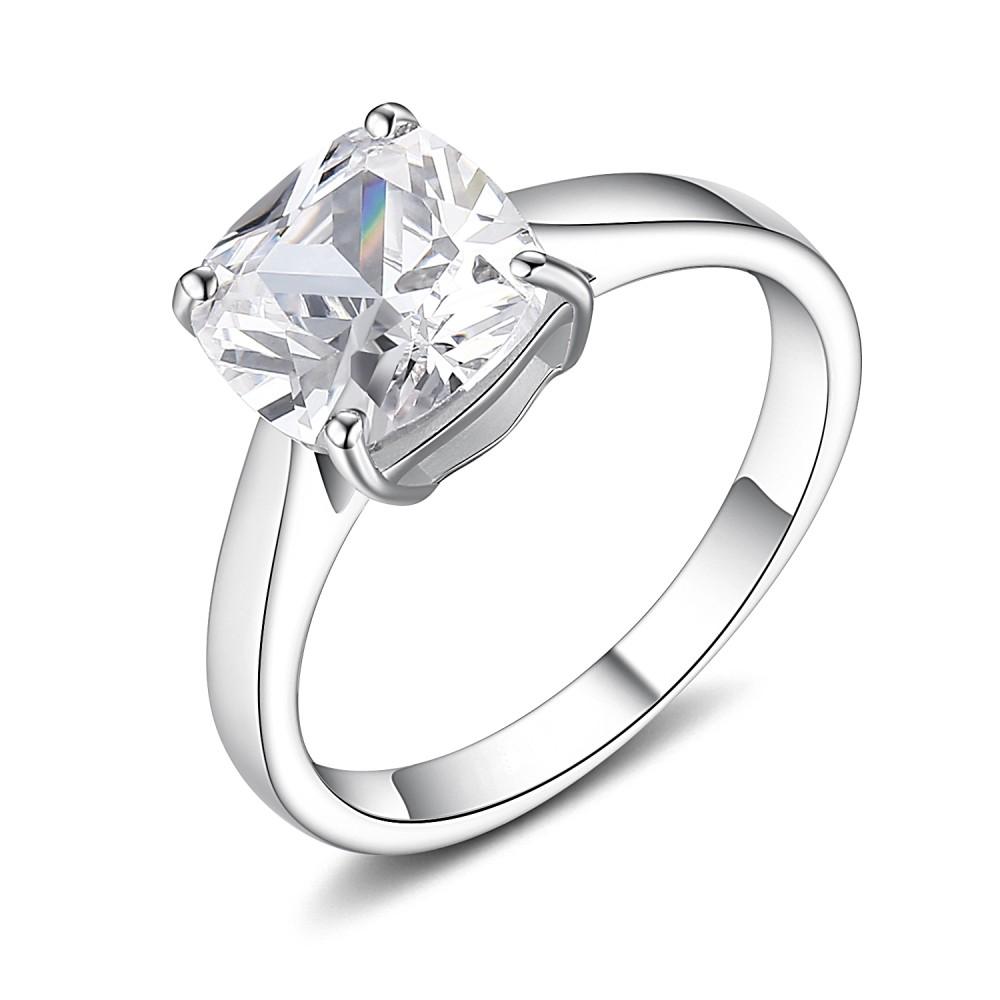 Corte AsscSu Piedra Preciosa Plata de Ley 925 Anillos de Promesa Para Ella