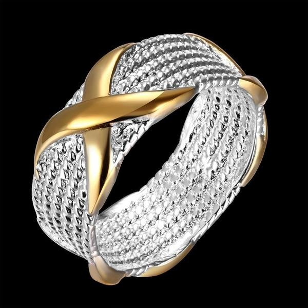 Sencillo Oro Wrapped Alianzas para Mujers