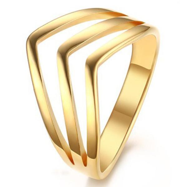 Titanio Muy Bien Oro Anillos de Promesa Para Ella