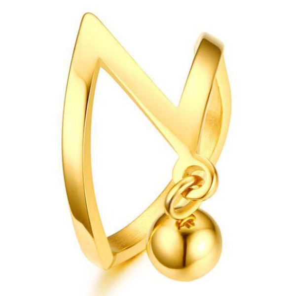 Titanio Oro Globe Anillos de Promesa Para Ella