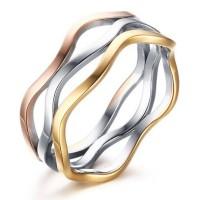 Titanio Plata Oro Oro Rosa Anillos de Promesa Para Ella