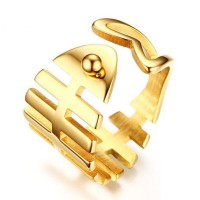 Titanio Oro Espina Anillos de Promesa Para Ella