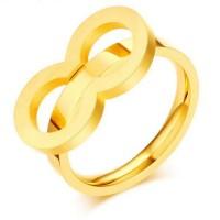 Titanio Sencillo Oro Anillos de Promesa Para Ella