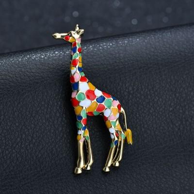 Vistoso Giraffe Single Aguja Brooch