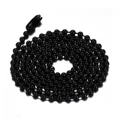 Negro Acero Titanio 2.4mm Cadenas