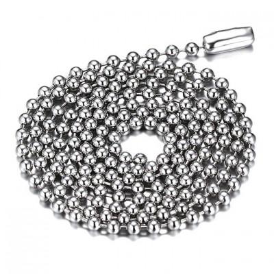 Plata Acero Titanio 2.4mm Cadenas