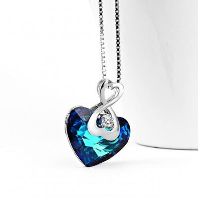 Cristal de Swarovski Plata de Ley 925 Infinito Zircon Collares