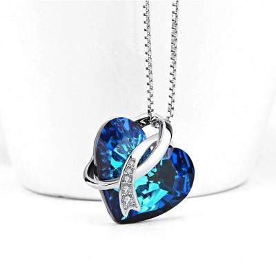 Cristal de Swarovski Plata de Ley 925 Zircon Collares