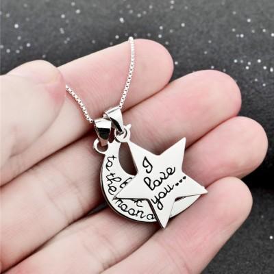 Luna & Estrella Amor Plata de Ley 925 Collares