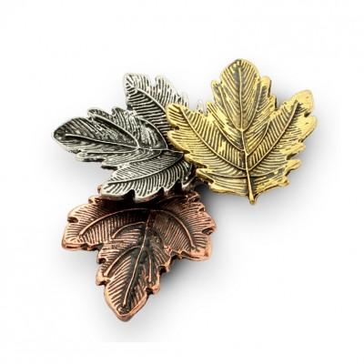 Colored Autumn Leaves Single Aguja Brooch