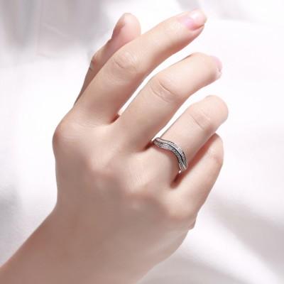 0.50CT Corte Redondo Zafiro Blanco Plata de Ley 925 Alianzas para Mujers