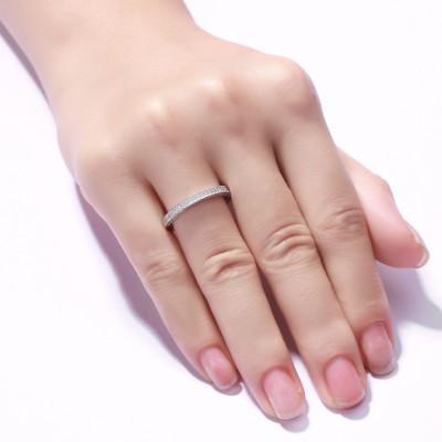 Corte Redondo Piedra Preciosa Plata de Ley 925 Alianzas para Mujers
