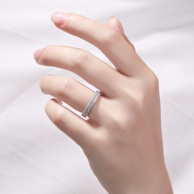 Corte Redondo Piedra Preciosa Plata de Ley 925 Anillo de Compromiso