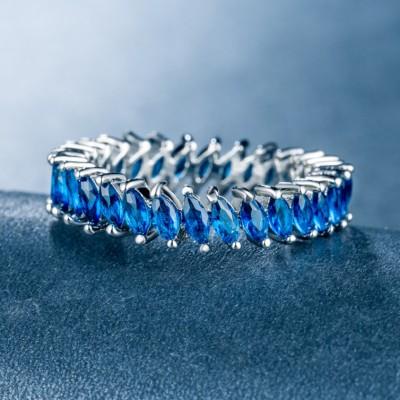 Corte Marquesa Azul Zafiro Único Por Para Mujeres