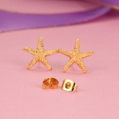 EstrellaPez Diseño Oro Plata de Ley 925 Aretes