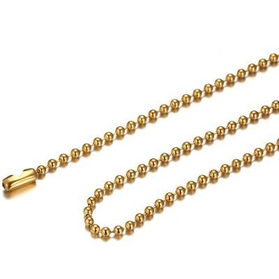 Oro Acero Titanio 2.4mm Cadenas