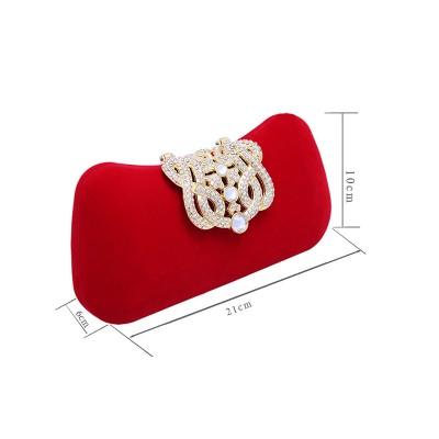 Elegante Diamante de imitación Pillow Fiesta/Bolsos de Noche